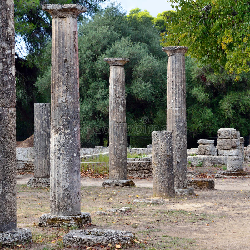 Начало Олимпии Греции Олимпийских Игр стоковая фотография