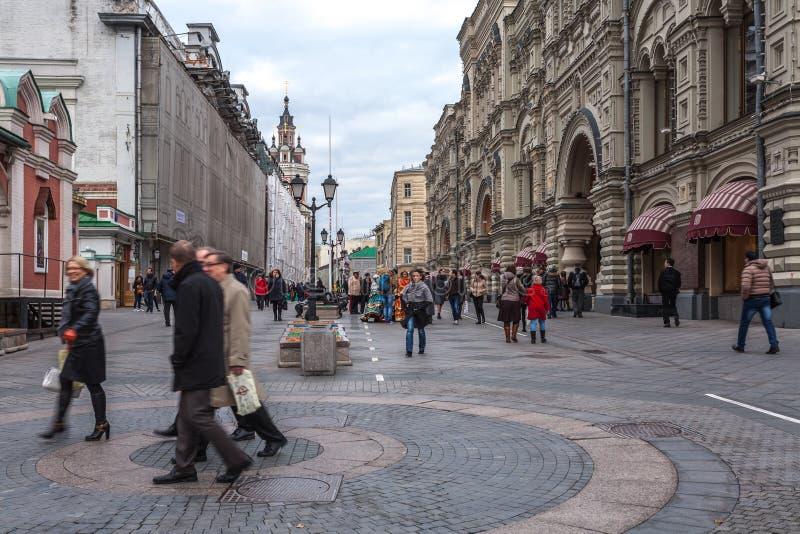 Начало улицы Nikolskaya стоковое фото