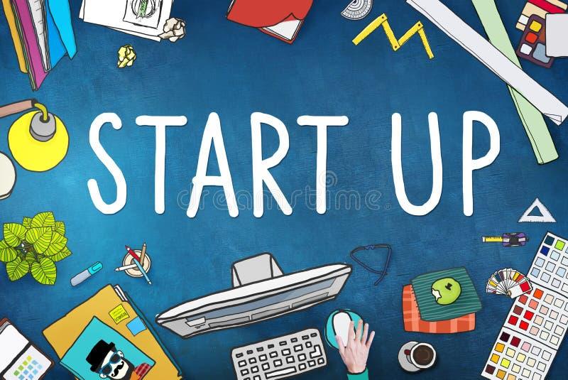 Начните вверх концепцию успеха развития возможности для бизнеса иллюстрация вектора