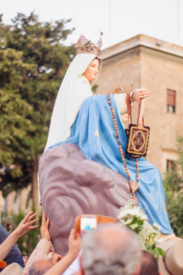 Наша дама парада Mount Carmel, Хайфа стоковое изображение