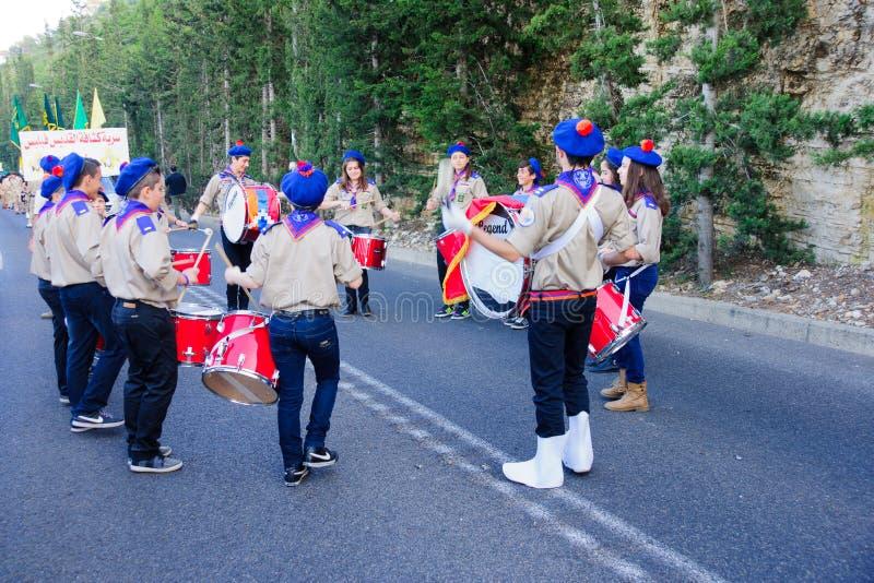 Наша дама парада Mount Carmel, Хайфа стоковое фото