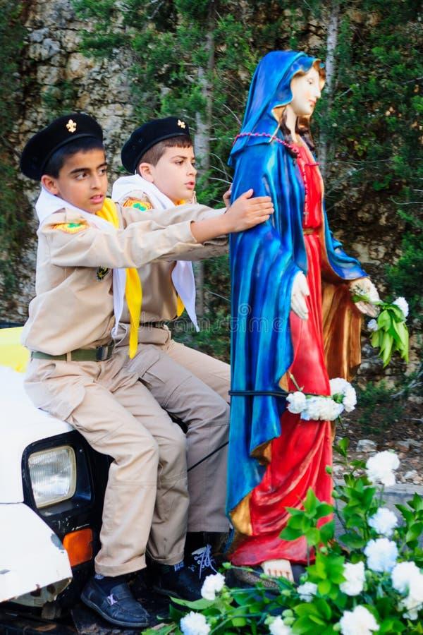 Наша дама парада Mount Carmel, Хайфа стоковые фотографии rf