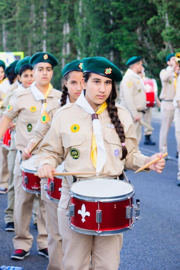 Наша дама парада Mount Carmel, Хайфа стоковые изображения rf