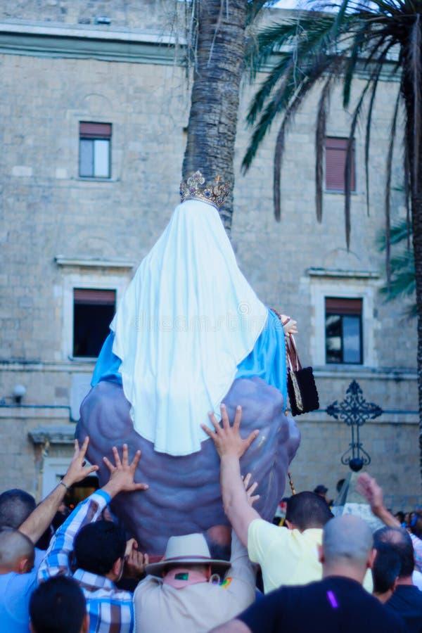 Наша дама парада Mount Carmel, Хайфа стоковая фотография rf