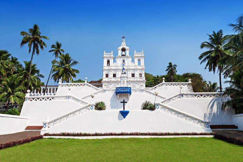 Наша дама Церковь, Goa стоковое фото