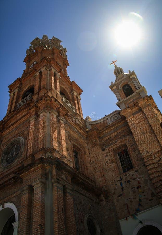 Наша дама приходской церкви Guadalupe, Puerto Vallarta, Халиско, Мексики стоковая фотография