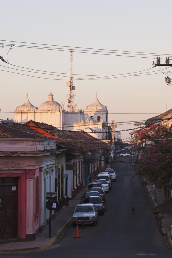Наша дама собора Грейса в Леоне, Никарагуа стоковое изображение rf