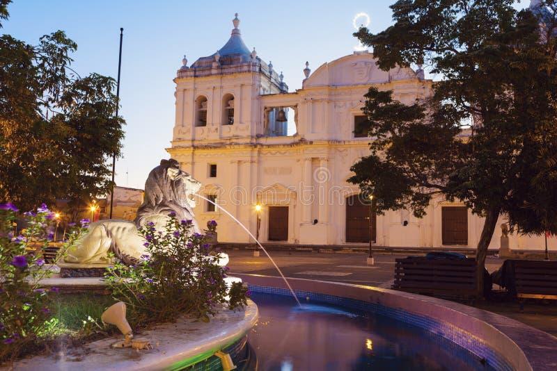 Наша дама собора Грейса в Леоне, Никарагуа стоковая фотография rf