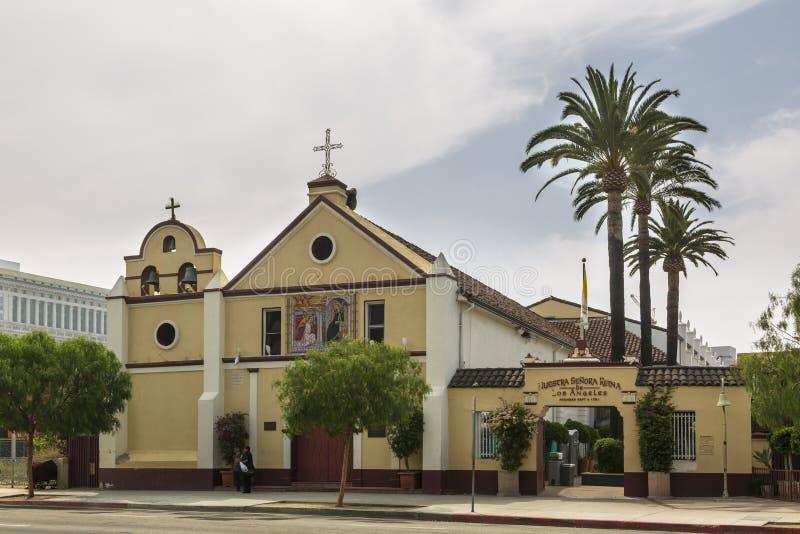 Наша дама Ферзь католической церкви ангелов, городского Лос-Анджелеса, Калифорния, Соединенных Штатов Америки стоковое изображение