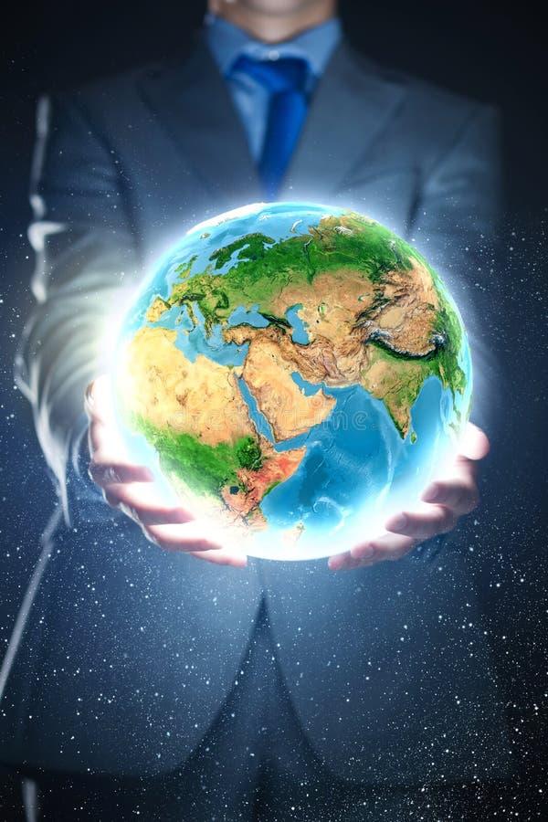 Download Наша планета земли стоковое фото. изображение насчитывающей backhoe - 41650702
