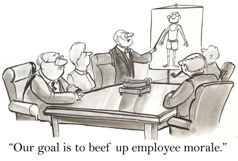 Наша цель жаловаться вверх моральный дух работника бесплатная иллюстрация