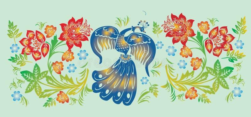 нашивка картины цветка птицы бесплатная иллюстрация