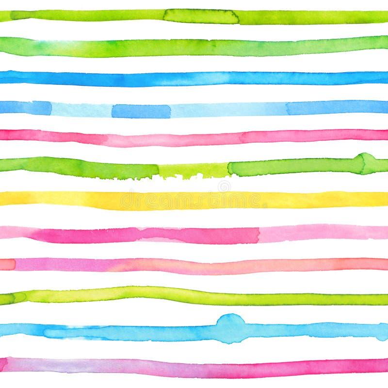 Нашивки акварели - красочная абстрактная безшовная картина иллюстрация вектора