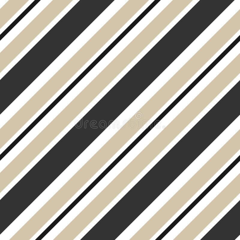 Нашивки бежевые и черная раскосная безшовная иллюстрация предпосылки картины бесплатная иллюстрация