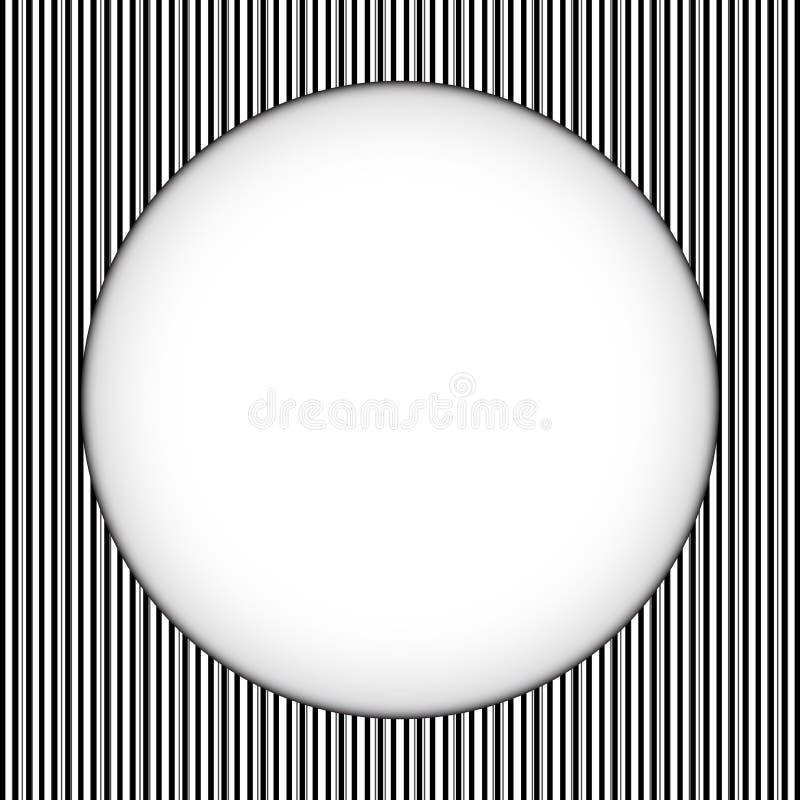 Нашивки границы круга черно-белые иллюстрация вектора