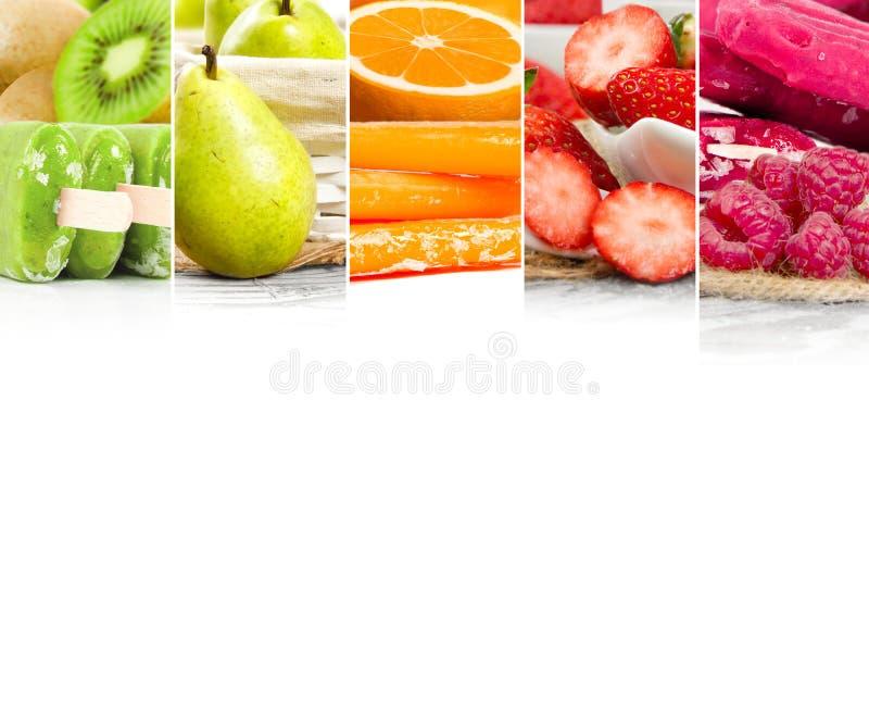 Нашивки смешивания мороженого плодоовощ стоковое фото rf