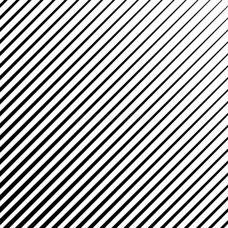 Нашивки Straigth раскосные, параллельные линии резюмируют геометрическую текстуру, картину, полутоновое изображение вектора бесплатная иллюстрация