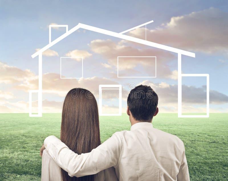 Наш дом стоковое изображение rf