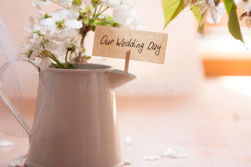 Наш день свадьбы стоковые изображения rf