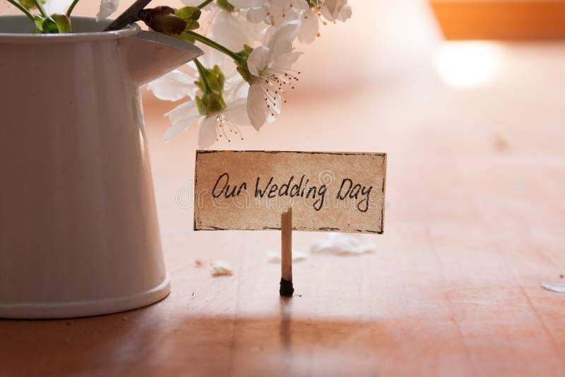 Наш день свадьбы стоковая фотография