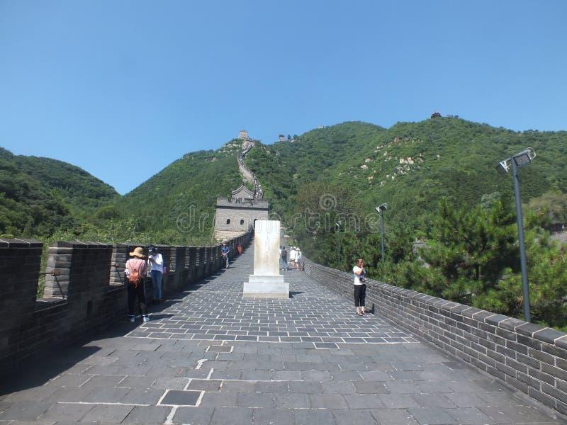 На Великой Китайской Стене Китая стоковые изображения