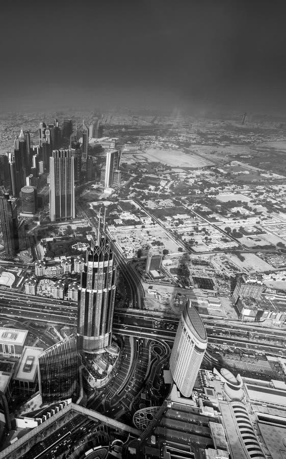 На верхней части, 125th пол, Burj Khalifa - от высоты стоковые изображения rf
