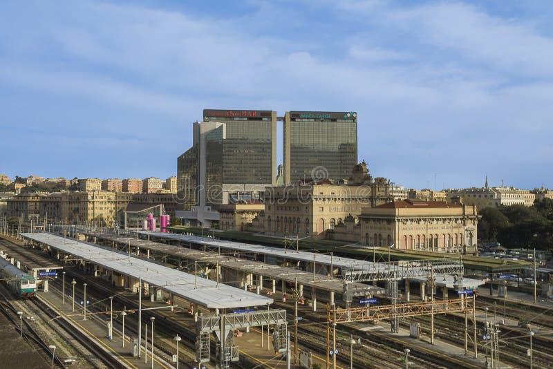 На вокзале Brignole стоковое изображение