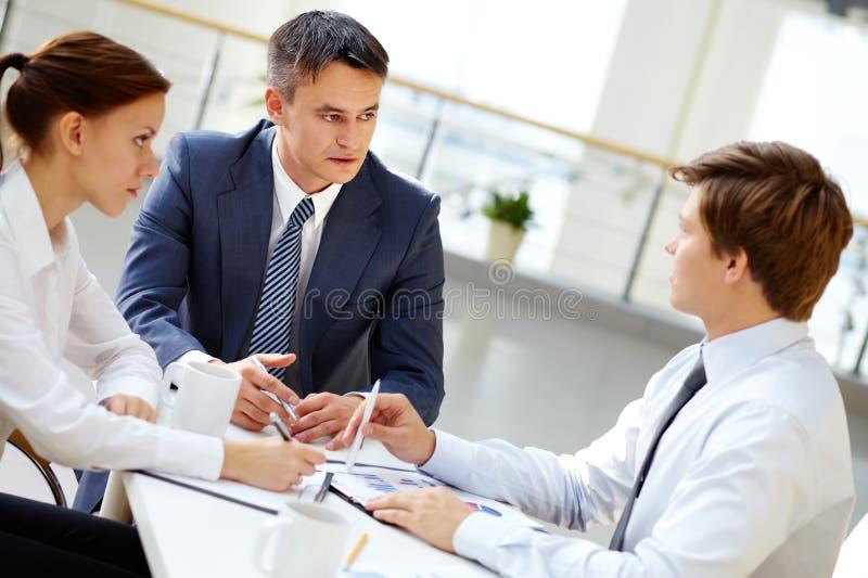 На встрече стоковое изображение rf