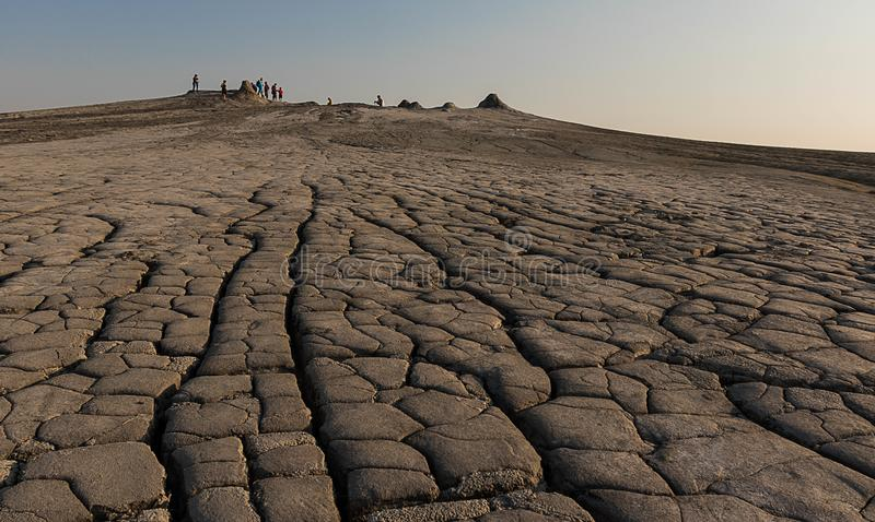 На вулканах грязи - Paclele, Buzau, Румыния стоковая фотография rf