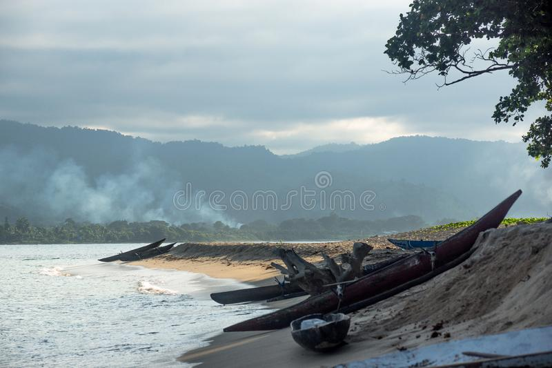 На диком острове в PNG стоковое изображение