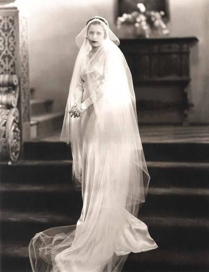 На ее день свадьбы стоковое изображение