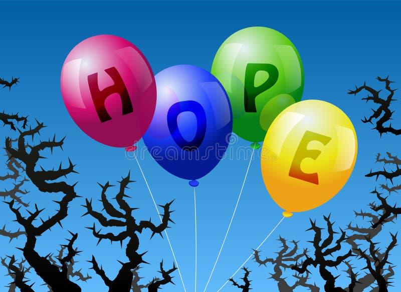 Надежда воздушных шаров бесплатная иллюстрация