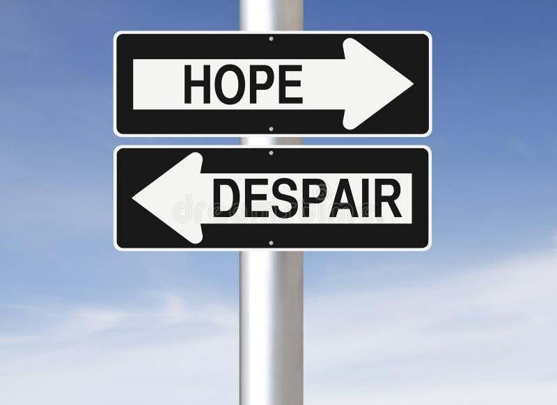Надежда или отчаяние иллюстрация вектора