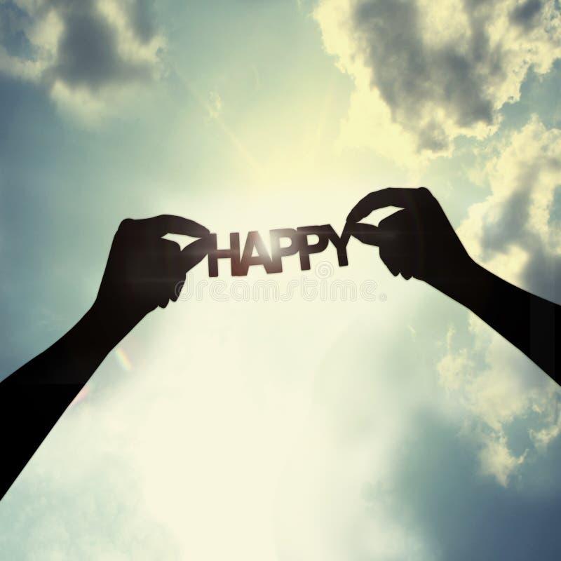 Надежда для счастья стоковое изображение rf
