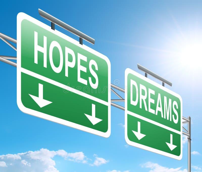 Надежды и концепция мечт бесплатная иллюстрация