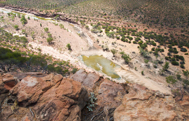 Надземный взгляд ущелья стоковые изображения rf