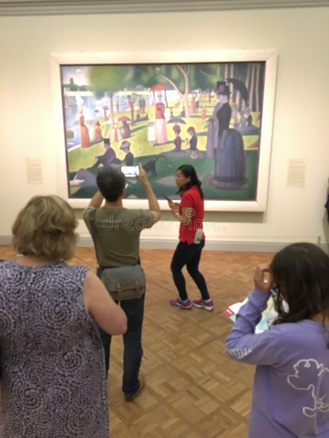 На институте Чикаго искусства стоковые фото