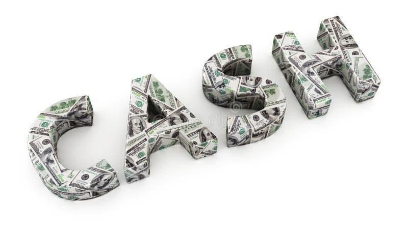Наличные деньги доллара иллюстрация штока