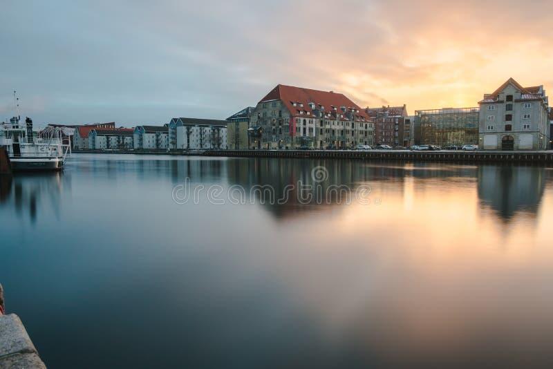 На канале - Копенгагене - Дании стоковое изображение