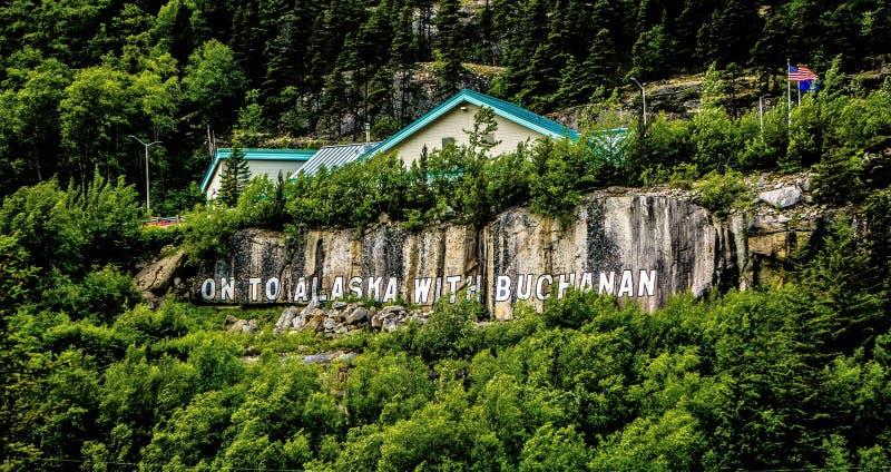 На к Аляске с Buchanan стоковое изображение