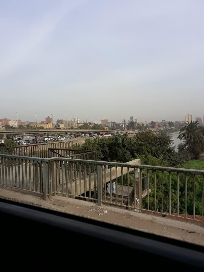 Над мостом стоковая фотография