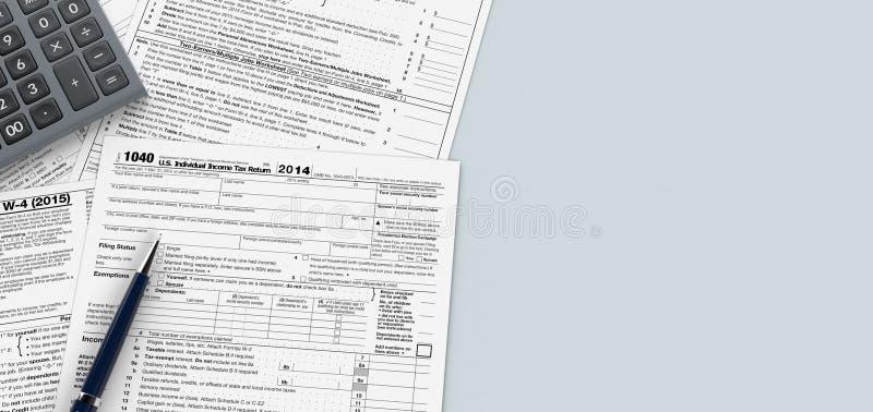 Налоги США иллюстрация вектора