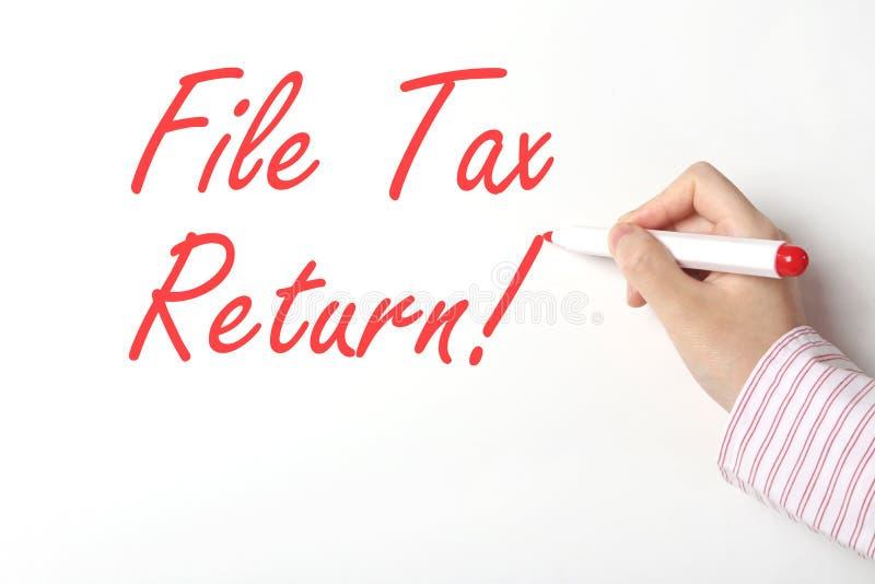 Налоговая декларация файла стоковое изображение