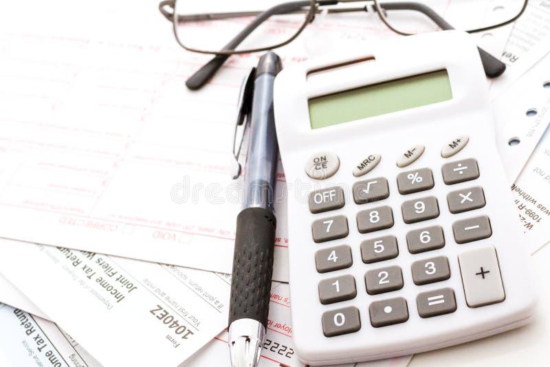 Налоговая декларация стоковые изображения