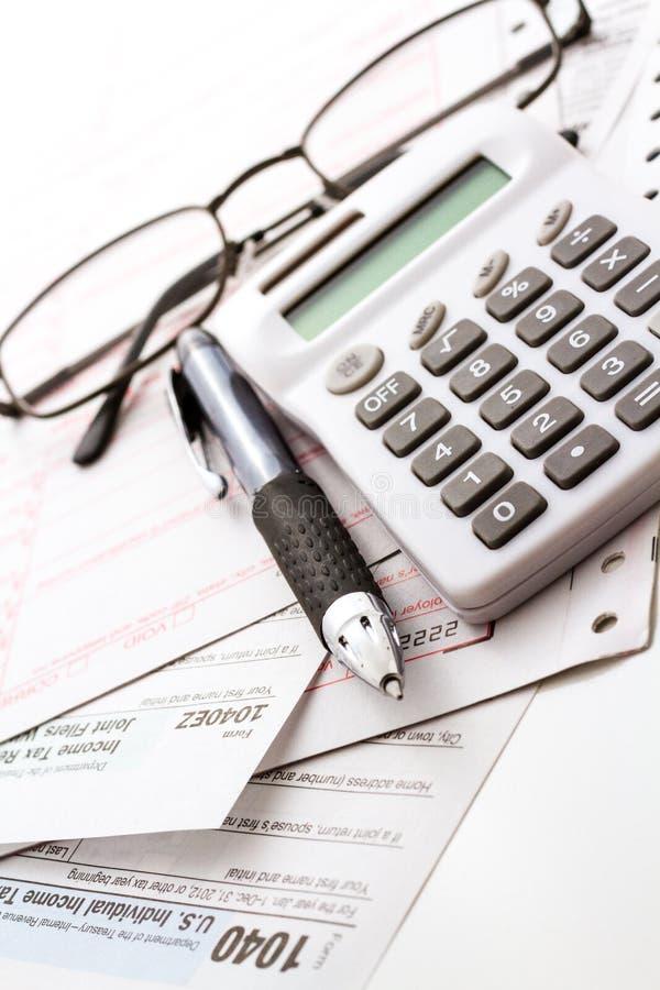 Налоговая декларация стоковая фотография