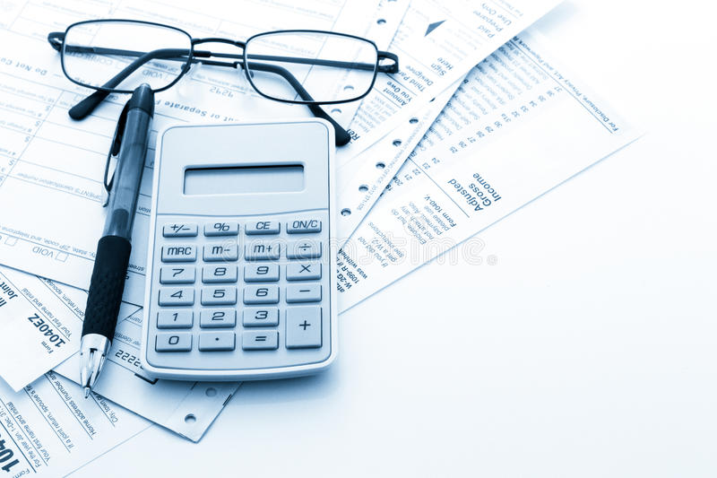 Налоговая декларация стоковые изображения rf