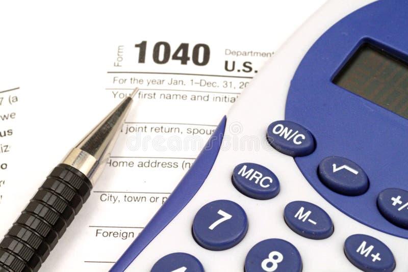 Налоговая форма подоходного налога стоковое фото