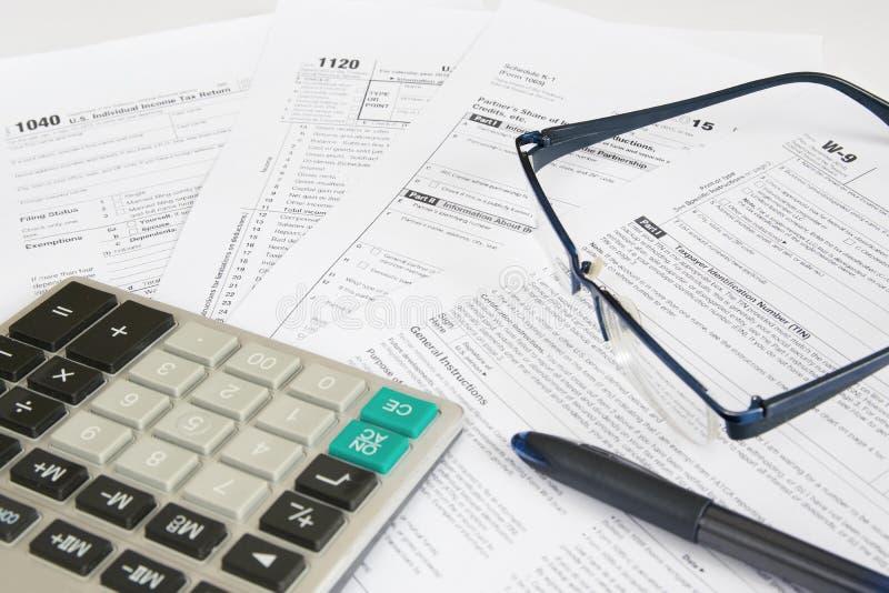 Налоговые формы 1 США стоковое изображение rf