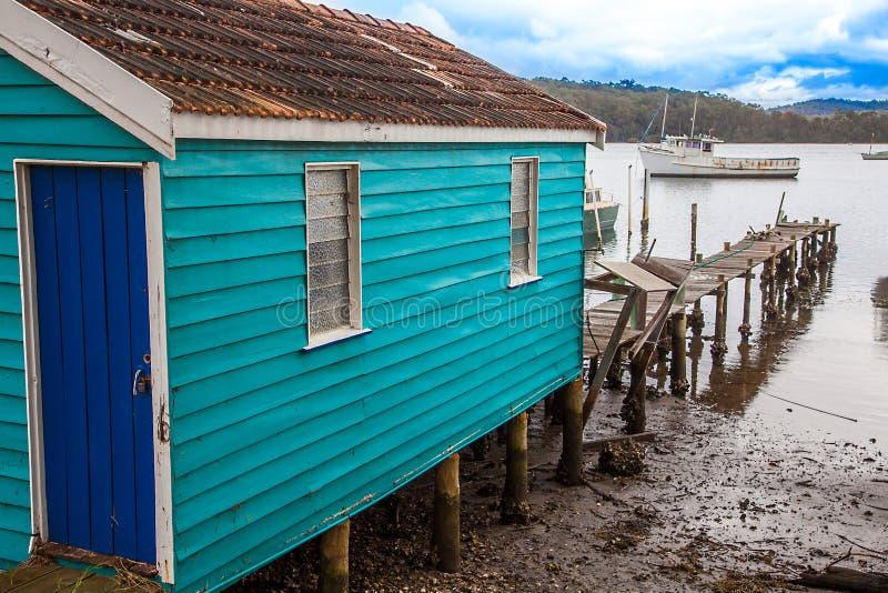 На озере Wallaga в Narooma Австралии стоковая фотография rf