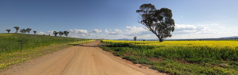 На дороге более менее путешествованном Canowindra Австралии стоковые изображения